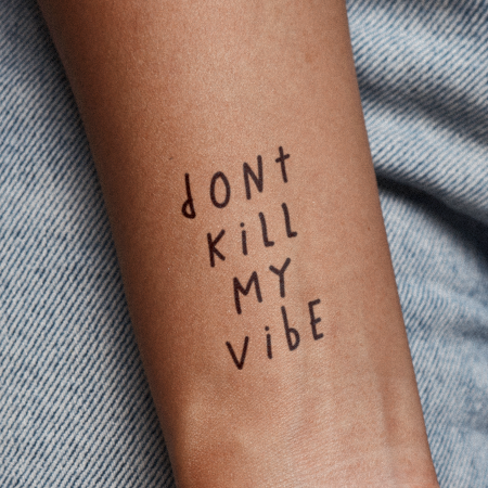 Just Vibe by Miguel Romero is a  temporary tattoo from inkbox - 1