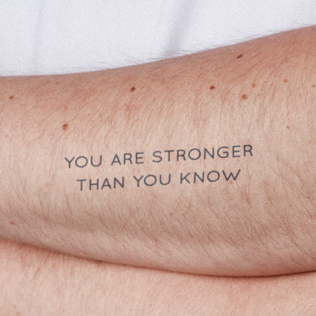 Stronger Still by Ella is a  temporary tattoo from inkbox - 0